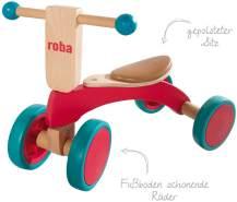 roba Holzrutscher, Kinderfahrzeug aus Holz, Kleinkind Laufrad/Sitzroller ab 1 Jahr