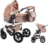 Bebebi myVARIO | 2 in 1 Kombi Kinderwagen | Hartgummireifen | Farbe: myGold