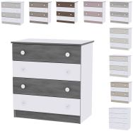 Lorelli 'Dresser' Kommode dunkelgrau/weiß