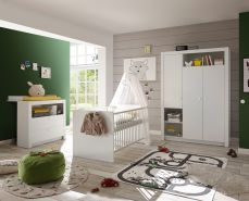 Ticaa Babyzimmer Frieda 3-teilig Weiß