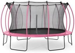Plum Springsafe Trampolin Colours mit Sicherheitsnetz Pink 426 cm