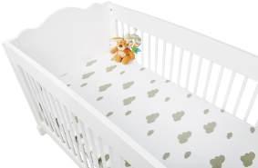 Pinolino 'Wolke/Uni' Spannbettlaken Jersey 2-er Pack weiß/grau,60x120/70x140 cm