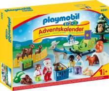 PLAYMOBIL 1•2•3 Adventskalender 2018 Waldweihnacht der Tiere 9391, Ab 1,5 Jahren