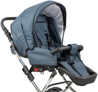 Zekiwa Sportwagenaufsatz zu Kinderwagen Classic und Nature Grey, Designs: Grey