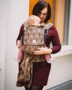 LIMAS Plus Babytrage Halfbuckle | 56 – 104 cm | Bauchtrage & Rückentrage & Hüfttrage | ab Geburt bis Kleinkindalter | Baby Carrier | Pava Honey Moon
