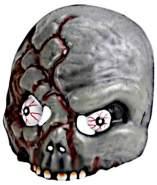 maske Zombie 20,8 cm grau/rot Einheitsgröße