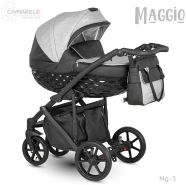 Camarelo Maggio Kombikinderwagen Mg-3 grau/ schwarz
