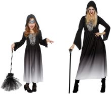 Wilbers - Halloween Kleid mit Kapuze Größe 116, 128
