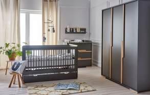 4-tlg. Babyzimmer-Set 'Spring' grau
