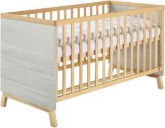 Schardt 'Miami Grey' Kombi-Kinderbett 70x140 cm, grau, 3-fach höhenverstellbar, 3 Schlupfsprossen
