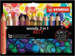 STABILO woody Aquarellfarbstift 10 Farben ARTY