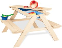 Pinolino 'Matsch-Nicki für 4' Kindersitzgarnitur natur