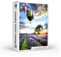Picmondoo - Malen nach Zahlen Set Heißluftballon über Lavendel 60x75cm