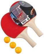 Happy People 74436 - Tischtennis-Set, 2 Schläger und 3 Bälle
