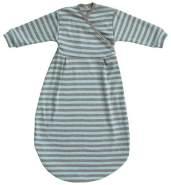 Popolini Felinchen Schlafsack Blue Grey Striped Blau Grau tog 0,5 Interlock GOTS Jersey Bio-Baumwolle 100% kbA 74/80