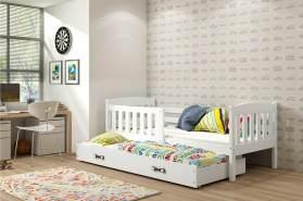 Stylefy Frank mit Extrabett Funktionsbett 80x190 cm Weiß Weiß