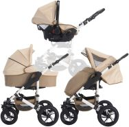 Bebebi Florida - 3 in 1 Kombi Kinderwagen Flocream Roues gonflables