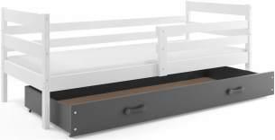 Stylefy Kera Funktionsbett 80x190 cm Weiß Graphit