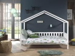 Vipack 'Dallas 1' Hausbett mit seitlicher Umrandung 90x200, weiß