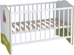 Kombi-Kinderbett Babybett Polini Basic Elly 140x70 weiß-grün
