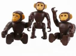 PLAYMOBIL - Schimpansen Rudel 2 groß 2 klein 143156445501
