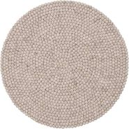 myfelt 'Béla' Filzkugelteppich 90 cm beige