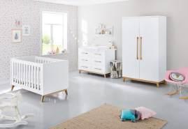 Pinolino 'Riva' 3-tlg. Babyzimmer-Set weiß, extrabreit