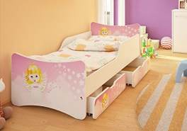 Best For Kids Kinderbett mit Schaummatratze 90x180, pink