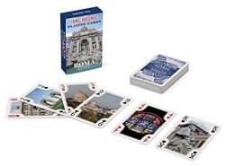 Dal Negro 23546–Spielkarten Mini Poker Souvenir Rom, Etui Blau