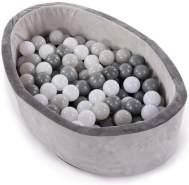Bo Jungle Bällebad mit 120 Bällen Grau