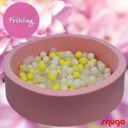 Bio Premium Bällebad FRÜHLING in rosa mit 300 Bällen aus Zuckerrohr