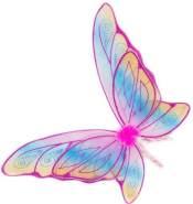 Glitzer-Flügel pink/pastell