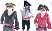 Piratenhemd rot, für Kinder Grösse 140