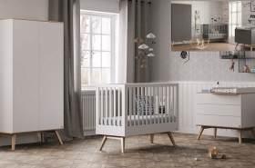 Vox 3-tlg. Babyzimmer-Set 'Natur' weiß/natur