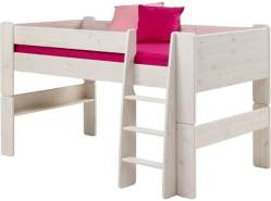 Steens for Kids Halbhochbett massiv white wash