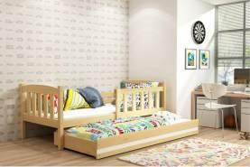 Stylefy Frank mit Extrabett Funktionsbett 80x190 cm Kiefer Weiß