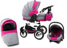 Tabbi ECO LN - 3 in 1 Kombi Kinderwagen Luft Pink
