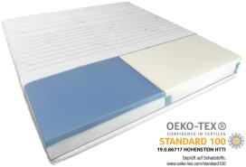 AM Qualitätsmatratzen | Premium 7-Zonen Partnermatratze 200x200 cm - H2 & H4 - Taschenfederkernmatratze (480 Federn/2m²)