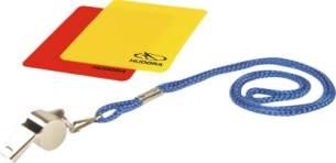 Hudora 76110 - Ballspiel - Schiedsrichterset, 3-teilig Gelbe Karte, Rote Karte, Pfeife