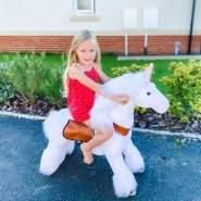 PonyCycle U weißes Einhorn für 4-9 Jahre