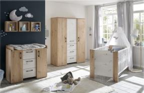 Babyzimmer Micha | 4 teiliges Set in Asteiche von Mäusbacher