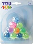 Toy Fun Flummi, 25 mm, 10 Stück auf Blisterkarte