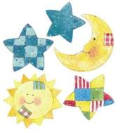 Wallies Wandaufkleber Motiv-Sticker (Cutouts) Sun,Moon&Stars