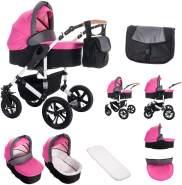 Bebebi myVARIO | 2 in 1 Kombi Kinderwagen | Luftreifen | Farbe: myGirl