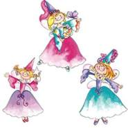 Wallies Wandaufkleber Motiv-Sticker (Cutouts) Princess Fairies