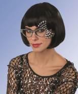 Brille mit Schleife und Schmucksteinen,