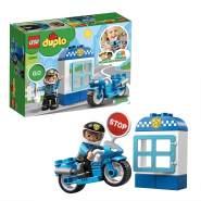 LEGO DUPLO 10900 'Polizeimotorrad', 8 Teile, ab 2 Jahren, inkl. Polizistenfigur, Stationsposten und Schildelement