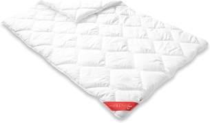 Badenia Bettcomfort Trendline Duo Winterdecke Steppbett Micro Kochfest, 135 x 200 cm, weiß