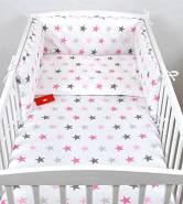 Babylux 'Sterne Rosa' Kinderbettwäsche