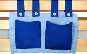 Betttasche hellblau/blau